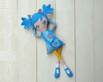 Blue rag doll