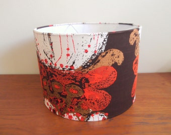 Vintage fabric lampshade KIT, drum lampshade kit, vintage lighting, home and living,lighting,lampshades.