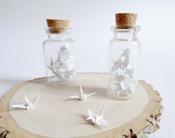 Miniature Origami Cranes-White