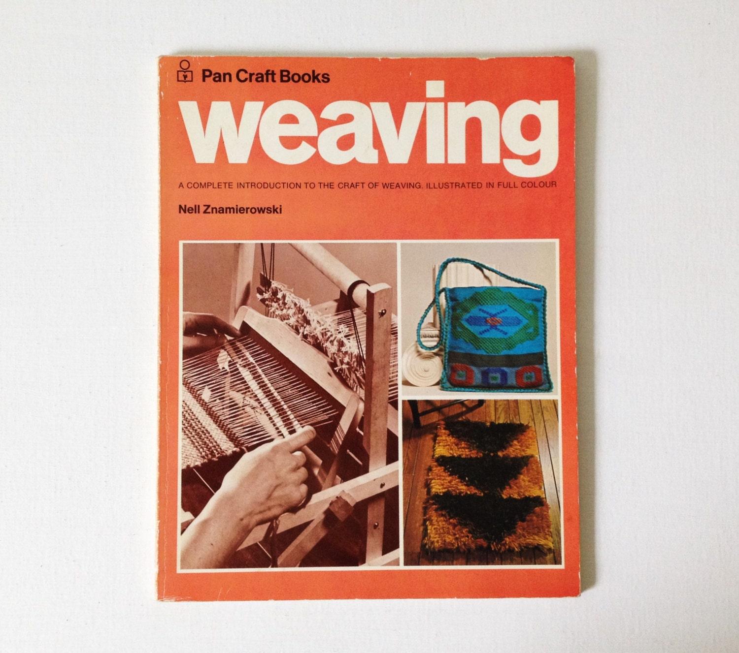 Book Cover Craft Update : S weaving book pan craft books vintage rya rug greek