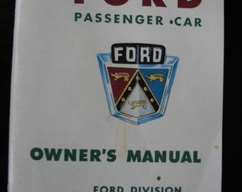 1950 Ford Owners Manual