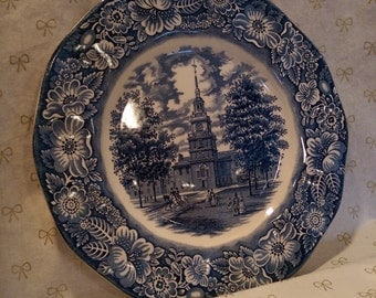 Liberty Blue 10 inch Dinner Plate