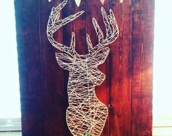 String art deer head