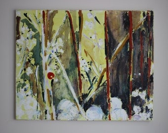 Original Abstract Painting/ Oil Painting/ Textured Painting/Nature