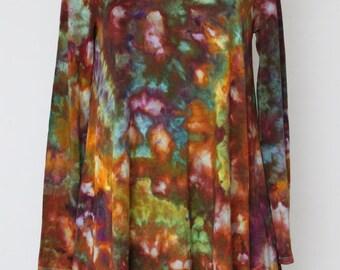 Tie dye tunic Women's longsleeve sleeve ice dye - Size Medium - Na's favorite crinkle