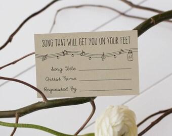 ANNABELLE Editable Wedding Song Request Card