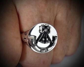 British Army Light Infantry 2LI Bespoke Ring