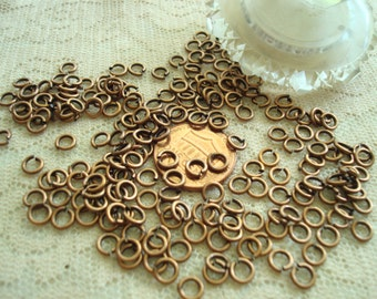 246 BRASS Jump Rings 5mm. 19 gauge. Antq Copper 20g of The  Best Quality Open Brass Jump Rings.  ~USPS Standard Ship Rates! from Oregon