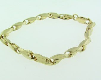 Yellow Gold Link Bracelet 8""