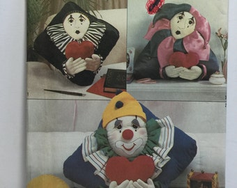 Vintage 1987 Simplicity 8469 Clown Pillows Sewing Pattern