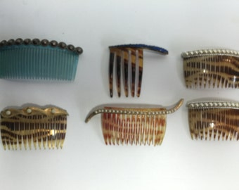 Vintage 1950's Hair Combs 2 different styles