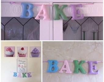 Bake banner, Bake bunting, padded sign