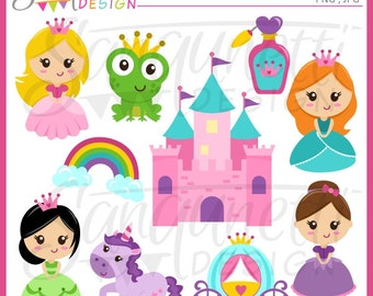 Princess clipart, princess clip art, Fairytale clipart, Fairytale Princess clipart, unicorn clipart, castle clipart, carriage clipart