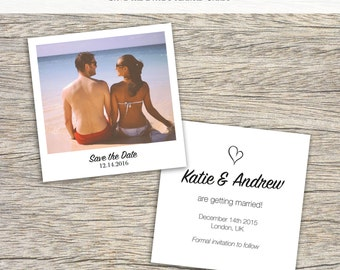 Save the date polaroid style wedding cards (50x)