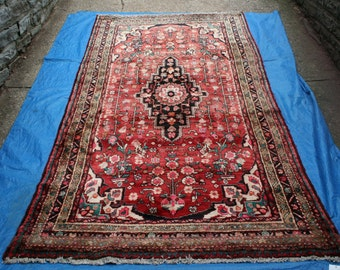 "10' 4"" x 5' 4"" Hamadan Area Tribal Rug    D40"