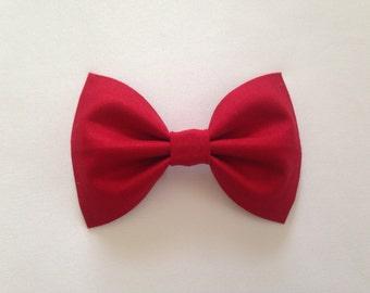 Red Hair Bow - Baby Hair Bow - Bow - Girls Hair Clip - Hair Bow - Baby Hair Clip - Hair Clip - Bow Hair Clip