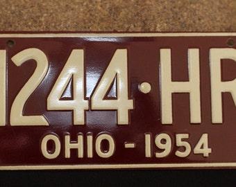 Vintage bike plate, bicycle license plate, Cereal Box Premium, Advertising - OHIO
