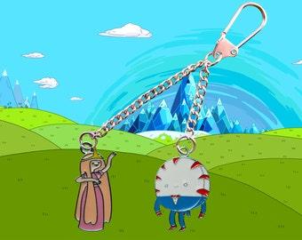 Adventure Time Princess Bubblegum & Peppermint Butler key chain / keyring Free UK Postage!