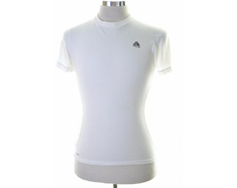 Nike Mens T-Shirt Top Large White Slim Fit