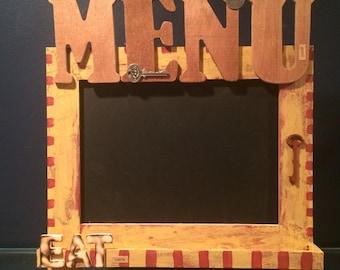 ON SALE, rustic kitchen menu chalkboard, rustic kitchen decor, kitchen gift, kitchen decoration, menu chalkboard, menu sign, rustic decor
