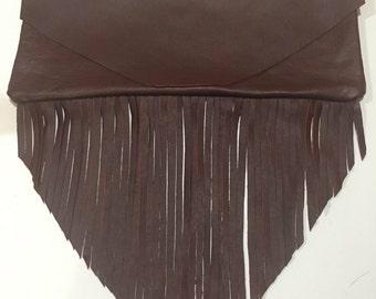 Fringe Clutch Fold Over and Flat