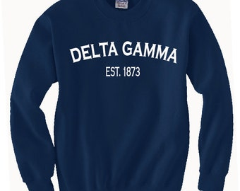 Custom Delta Gamma Classic Established Comfort Colors Tanks, Short Sleeves, Long Sleeves, and Sweatshirts