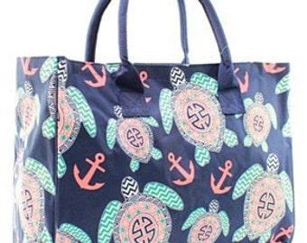 Preppy Turtle Tote - Monogrammed - Sorority Bag