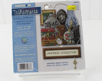 "Antique Collector Counted Cross Stitch Kit, Dimensions, 5""x7"", K158S"