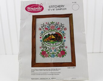 Home is Best Crewel Embroidery Kit, K210