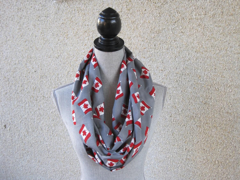 fabric scarf infinity scarf circle scarf canada flag