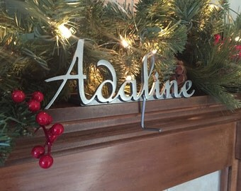 Christmas Stocking Hanger Personalized Stocking Hook - Long name