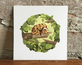"Jaguar: 4 x 4"" and 5.5 x 5.5"" print"