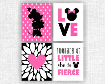 ... Minnie Mouse Wall Decor Mickey Mouse Bathroom Wall Wash Brush Floss By  ...