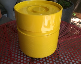 1970s Yellow Cookie Jar Container