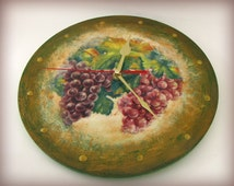 SALE Grapes Silent Wall Clock ready to ship