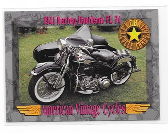 American Vintage Cycles 1941 Harley Davidson FL-74 Trading Card from 1993