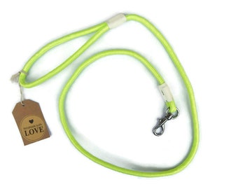 Leash - Fluro Yellow Rope Dog Leash, Handmade Puppy Lead