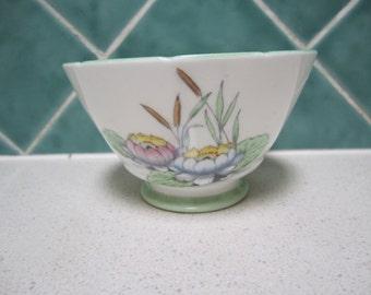 Vintage Royal Stafford Sugar Bowl/Bon Bon Dish - Lotus Flower on Lily Pad- 1930's