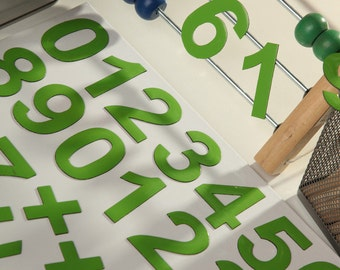 """2"""" DIGITS on the Fridge, Magnets,  5 cm Green Magnetic Numbers, MagWords"""