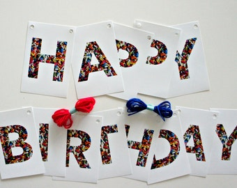 "Sprinkle Party Banner Kit ""Happy Birthday"""