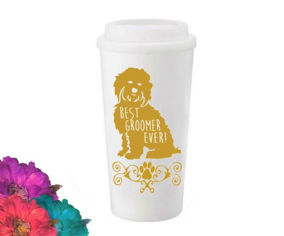 Dog Groomer Travel Tumbler - pick your color