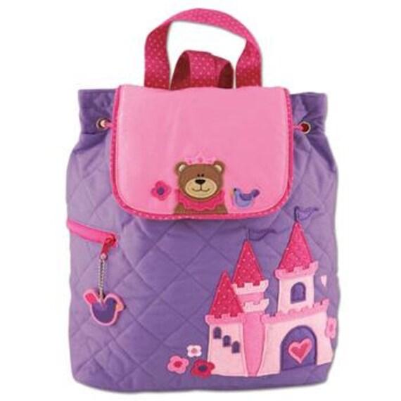 FREE PERSONALIZATION, Children's Backpack, Custom Embroidery, Monogram, Stephen Joseph, Personalized Girl Princess Bear Backpack.