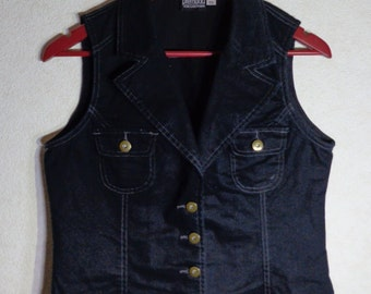 Women Vest Romantic Comfortable Medium Size Metal Buttons