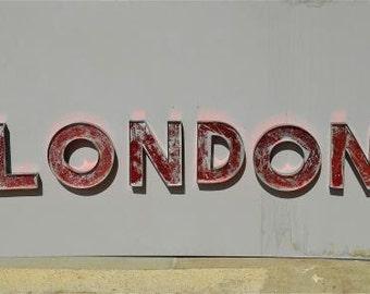 Fantastic large metal LONDON letters