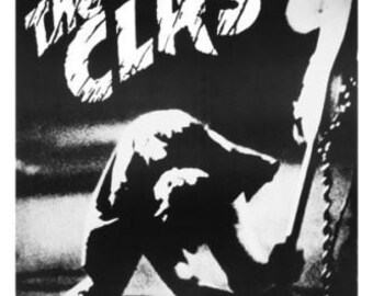 Wall Art, Punk Rock Poster, The CLASH LONDON CALLING poster  24 x 36