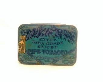 EDGEWORTH Pipe Tobacco Tin, Extra High Grade Sliced, Larus and Bro Co, Richmond VA USA