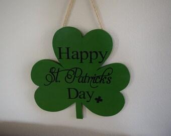 St Patricks Day 3 leaf Clover Sign