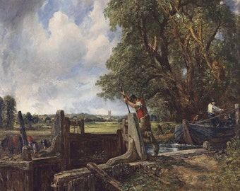 John Constable: The Lock. Fine Art Print/Poster (00905)