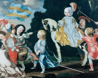 David Klöcker Ehrenstrahl: Children Playing. Fine Art Print/Poster (0061)