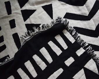 Woven Throw Blanket, Cotton